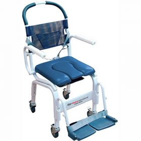 """Mor-Medical Euro Shower Commode Chair, 300 lbs. Capacity, 18""""W Seat"""