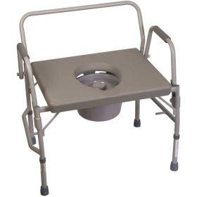 DMI Heavy Duty Bariatric Bedside Commode