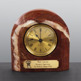 Personalized Amber Swirl Clock