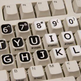 Computer Keytops White on Black